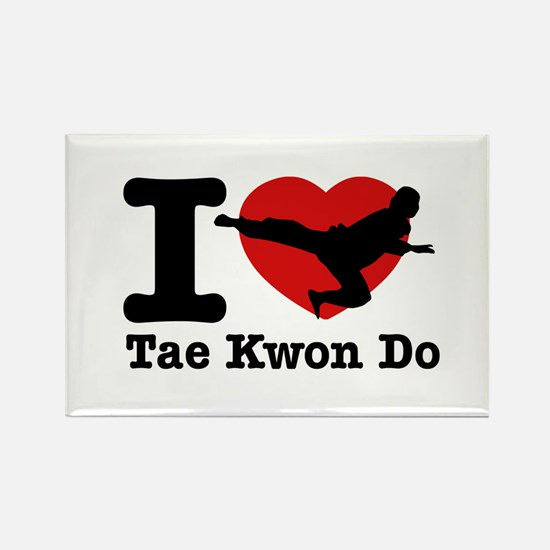 Taekwondo Heart Designs Rectangle Magnet