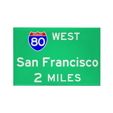 San Francisco Exit Sign Rectangle Magnet