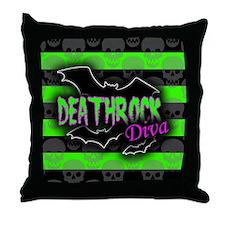 Deathrock Diva Throw Pillow
