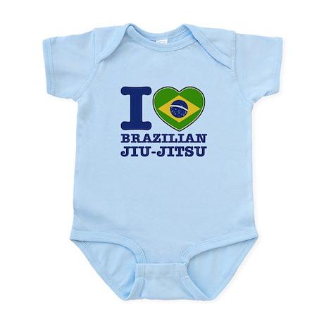 Brazilian Jiu Jitsu Flag Designs Infant Bodysuit