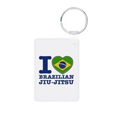 Brazilian Jiu Jitsu Flag Designs Keychains