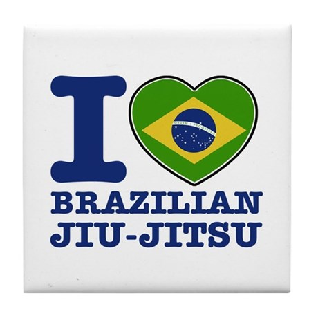 Brazilian Jiu Jitsu Flag Designs Tile Coaster