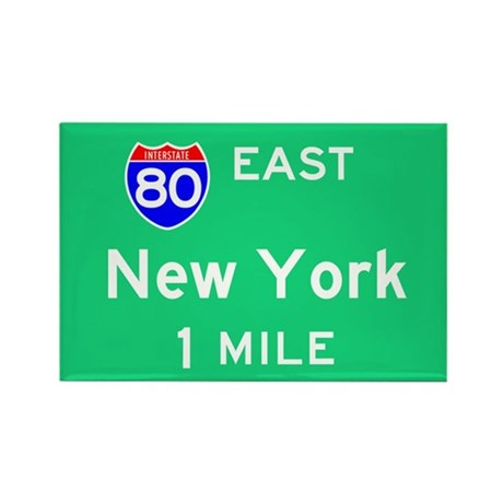 New York Exit Sign Rectangle Magnet