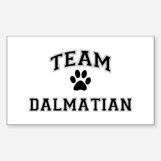 Team Dalmatian Sticker (Rectangle)