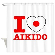 Aikido Flag Designs Shower Curtain