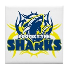Protect the Sharks Tile Coaster