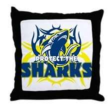 Protect the Sharks Throw Pillow