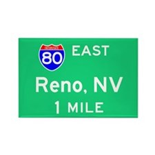 Reno Exit Sign Rectangle Magnet