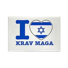 Krav Maga Flag Designs Rectangle Magnet
