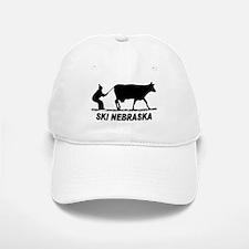 Ski Nebraska Baseball Baseball Cap