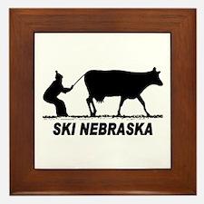Ski Nebraska Framed Tile