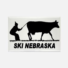 Ski Nebraska Rectangle Magnet