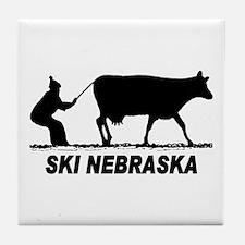 Ski Nebraska Tile Coaster