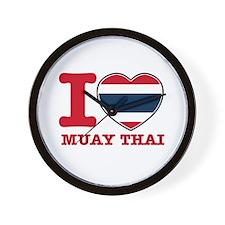 Muay Thai Flag Designs Wall Clock