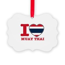 Muay Thai Flag Designs Ornament