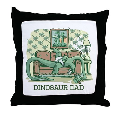 Dino Dad Couch Potato Throw Pillow