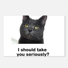 Seriously Blue Cat Postcards (Package of 8)