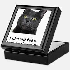 Seriously Blue Cat Keepsake Box