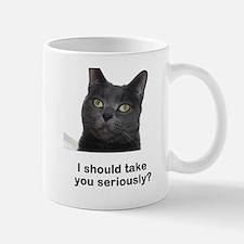 Seriously Blue Cat Mug