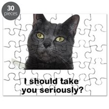 Seriously Blue Cat Puzzle
