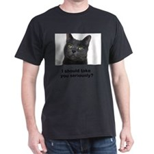 Seriously Blue Cat T-Shirt
