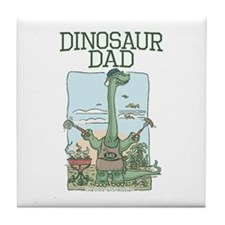 Dino Dad Grill Master Tile Coaster