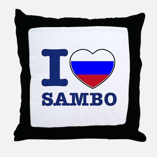 Sambo Flag Designs Throw Pillow