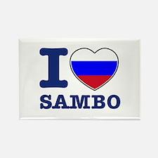 Sambo Flag Designs Rectangle Magnet
