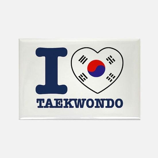 Taekwondo Flag Designs Rectangle Magnet