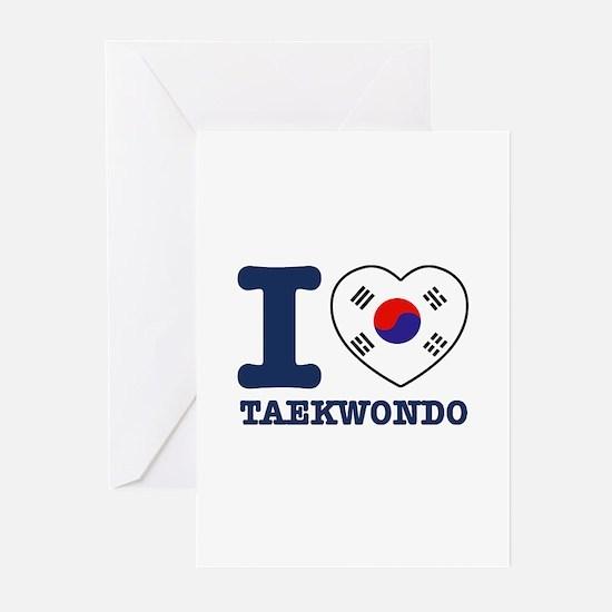 Taekwondo Flag Designs Greeting Cards (Pk of 10)