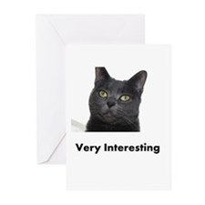 Very Interesting Blue Cat Greeting Cards (Pk of 10