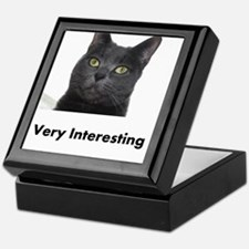 Very Interesting Blue Cat Keepsake Box