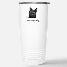 Very Interesting Blue Cat Travel Mug