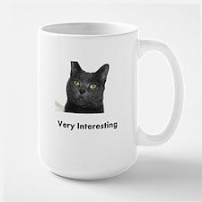 Very Interesting Blue Cat Mug