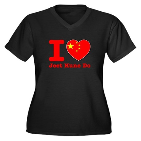 Jeet Kune Do Flag Designs Women's Plus Size V-Neck
