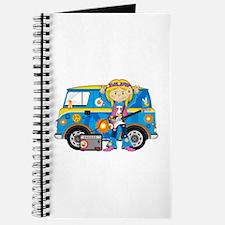 Hippie Girl and Camper Van Journal