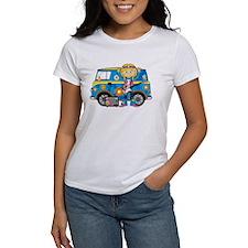Hippie Girl and Camper Van Tee