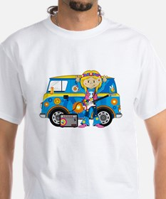 Hippie Girl and Camper Van Shirt