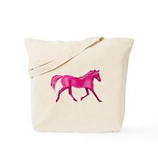 Pink Horse Tote Bag