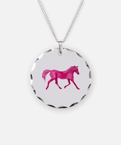 Pink Horse Necklace