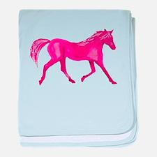 Pink Horse baby blanket