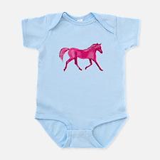 Pink Horse Infant Bodysuit