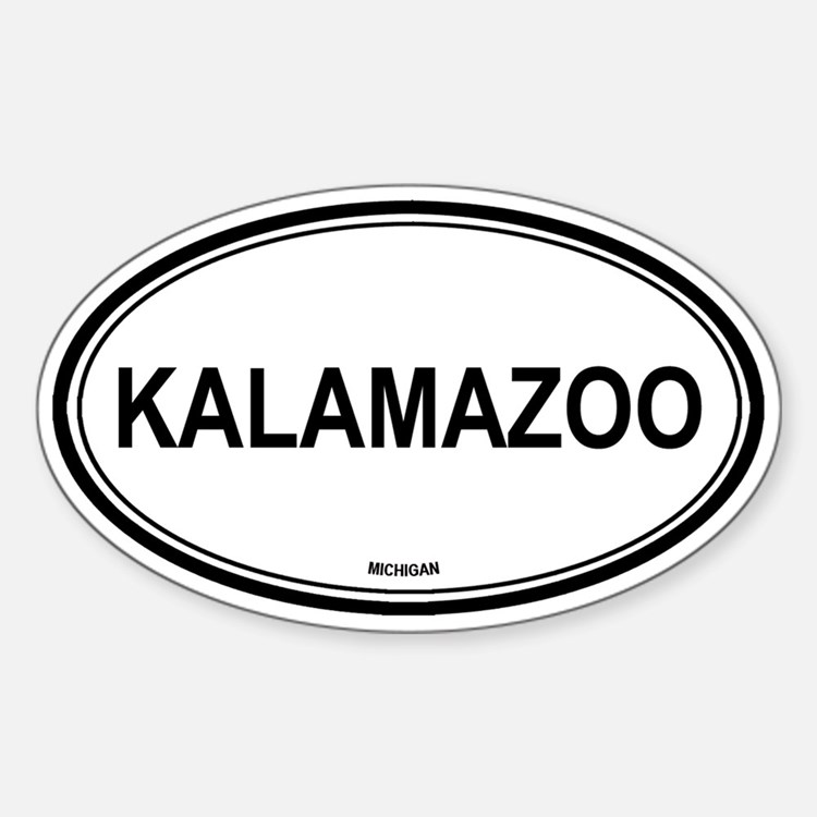 Kalamazoo (Michigan) Oval Decal