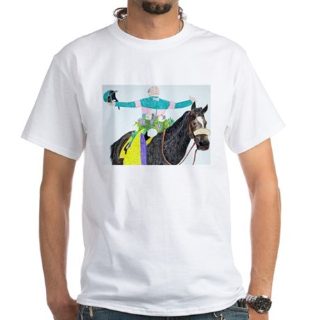 Mike Smith and Zenyatta White T-Shirt