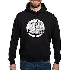 NAVY - Black & White Anchor Hoodie