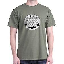 NAVY - Black & White Anchor T-Shirt