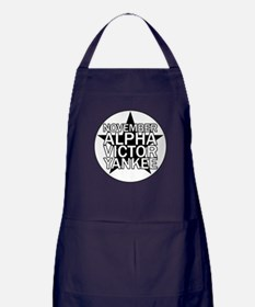 NAVY - Black & White Star Apron (dark)