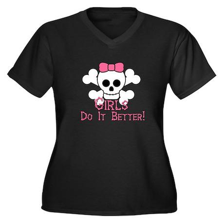 SkullGirlShirt Plus Size T-Shirt