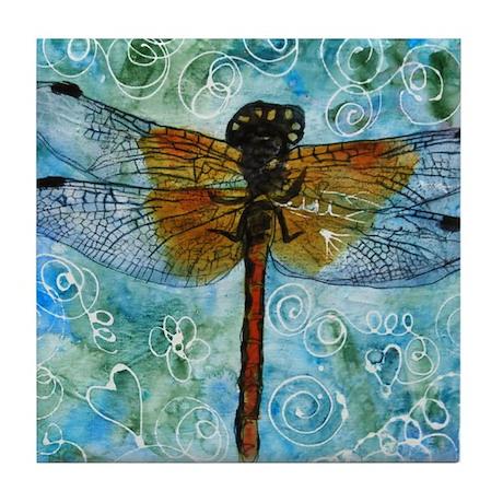 Dragonfly Dips Tile Coaster