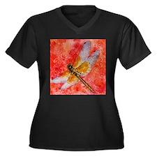 Dragonfly Destinations Women's Plus Size V-Neck Da